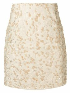 Noon By Noor Scout embroidered mini skirt - Neutrals