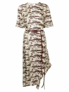 Victoria Beckham camouflage print midi dress - Neutrals