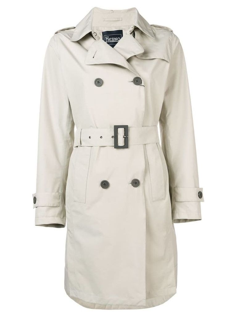 Herno double breasted trench coat - Neutrals
