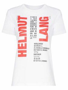 Helmut Lang logo print cotton T-shirt - White