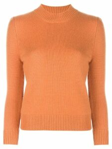Co mock neck jumper - Orange