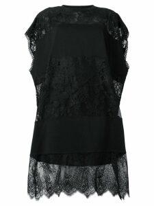 McQ Alexander McQueen hybrid stripe T-shirt dress - Black
