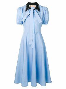 Nº21 puff sleeve midi dress - Blue