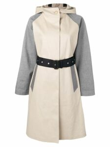 Mackintosh Putty & Grey Cotton Oversized Hooded Trench Coat LR-093/CB