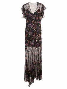 Veronica Beard floral print long dress - Black