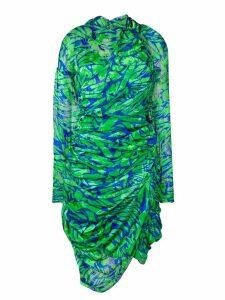 Preen By Thornton Bregazzi asymmetric draped dress - Green
