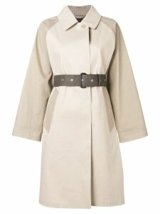Mackintosh Putty & Fawn Bonded Cotton Oversized Trench Coat LR-092/CB