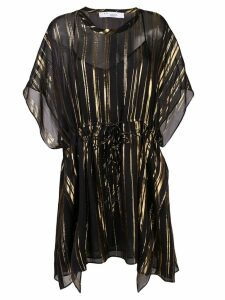 Iro metallic stripe kaftan dress - Black