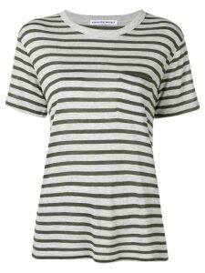 T By Alexander Wang striped slub pocket t-shirt - Grey