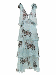 Clube Bossa silk Levete midi dress - Blue