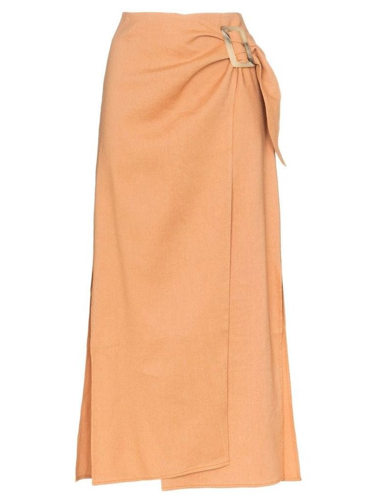 Rejina Pyo high-waisted wrap style midi skirt - Orange