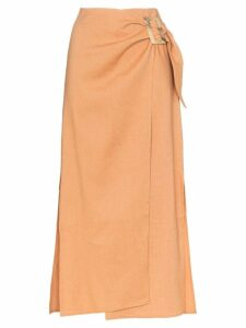 Rejina Pyo high-waisted wrap style midi skirt - Orange
