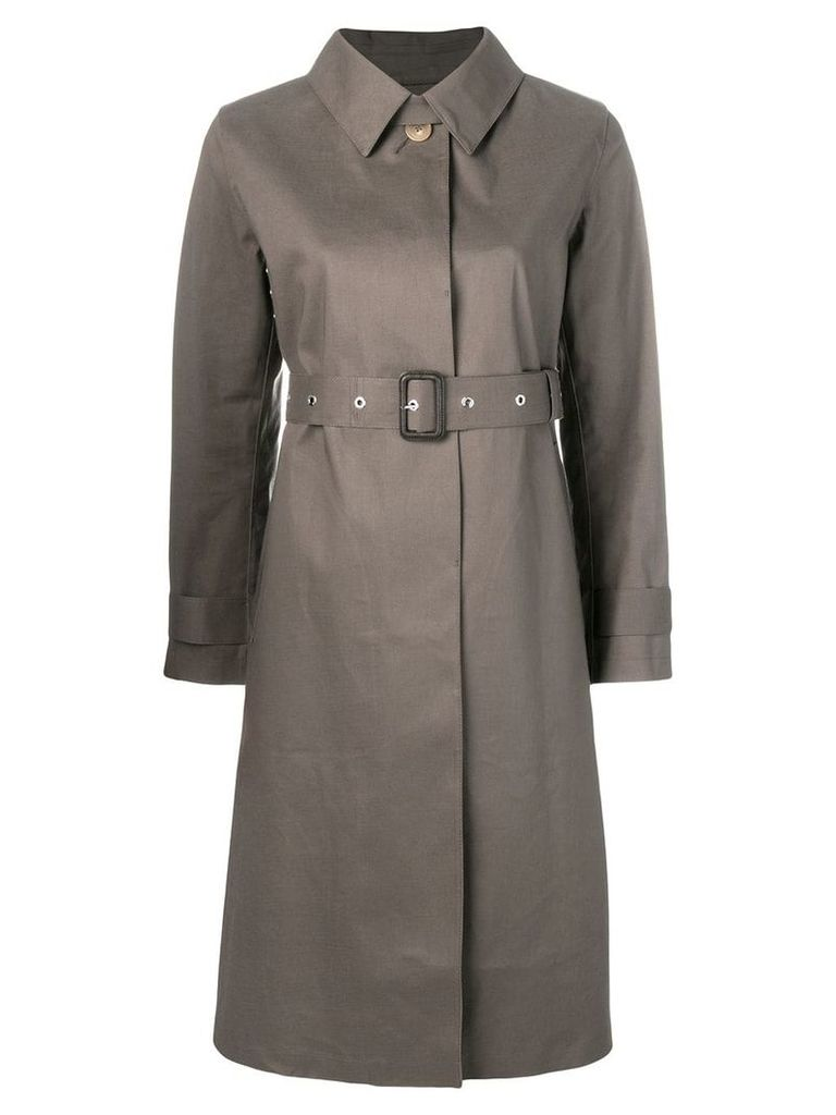 Mackintosh Taupe & Fawn Bonded Cotton Single-Breasted Trench Coat