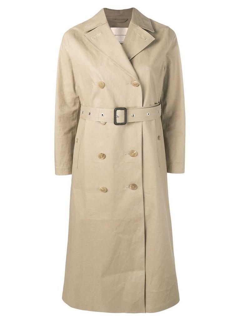 Mackintosh Fawn Bonded Cotton Long Trench Coat LR-091 - Idj09 Fawn