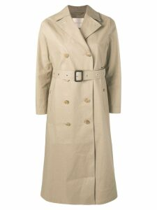 Mackintosh Fawn Bonded Cotton Long Trench Coat LR-091 - Idj09 Fawn