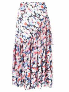 Jill Stuart floral print drape skirt - Blue