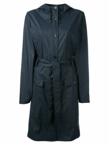 Rains belted raincoat - Blue
