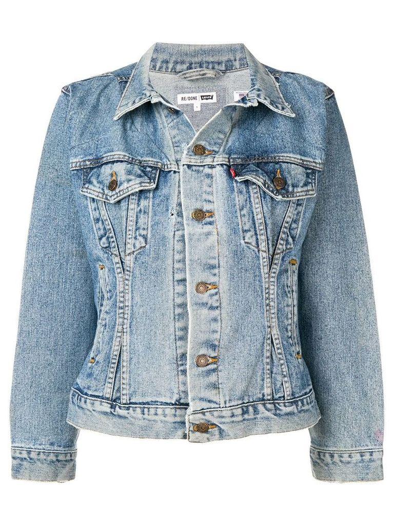 Re/Done faded denim jacket - Blue
