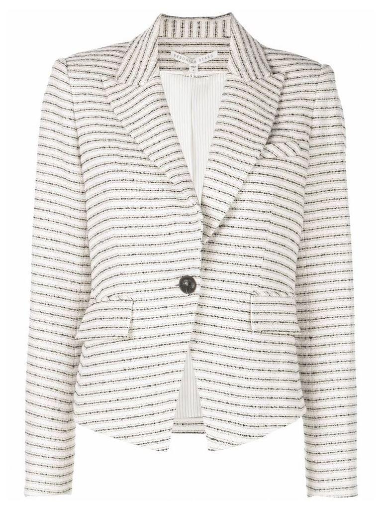 Veronica Beard horizontal striped blazer - White