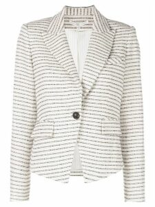 Veronica Beard horizontal striped blazer - White