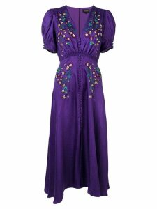 Saloni Lea embroidered dress - Purple