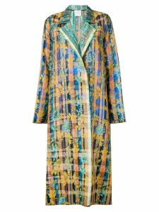 Forte Forte oversized printed coat - Blue