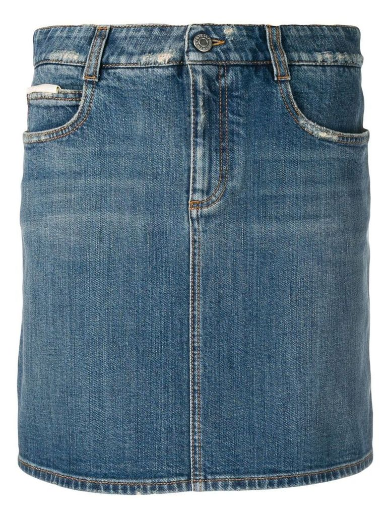 Stella McCartney mini denim skirt - Blue