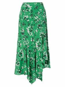 Veronica Beard floral print midi skirt - Green