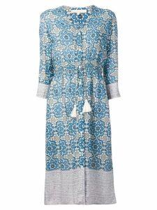 Vanessa Bruno printed drawstring waist dress - Blue