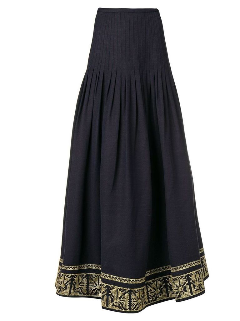 Zeus+Dione Acropolis embroidered skirt - Blue