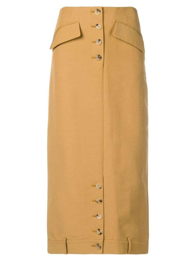 Rejina Pyo straight midi skirt - Brown