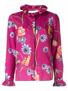 Borgo De Nor Veronica vintage flowers shirt - Pink