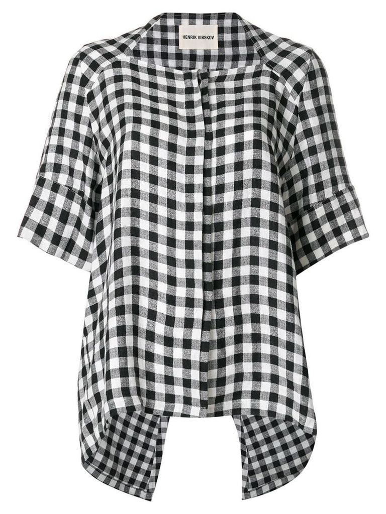 Henrik Vibskov gingham asymmetric shirt - White