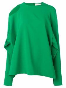 A.W.A.K.E. Mode cut out shoulder blouse - Green