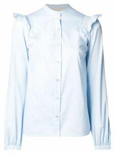 Michael Michael Kors frill sleeve shirt - Blue
