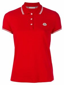 Moncler contrast trim polo shirt - Red