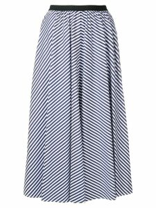 Antonio Marras striped pleated skirt - Blue