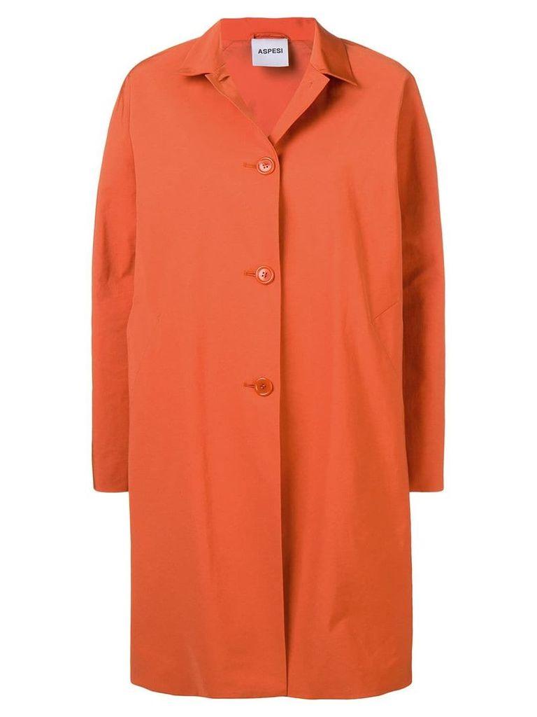 Aspesi single-breasted coat - Orange