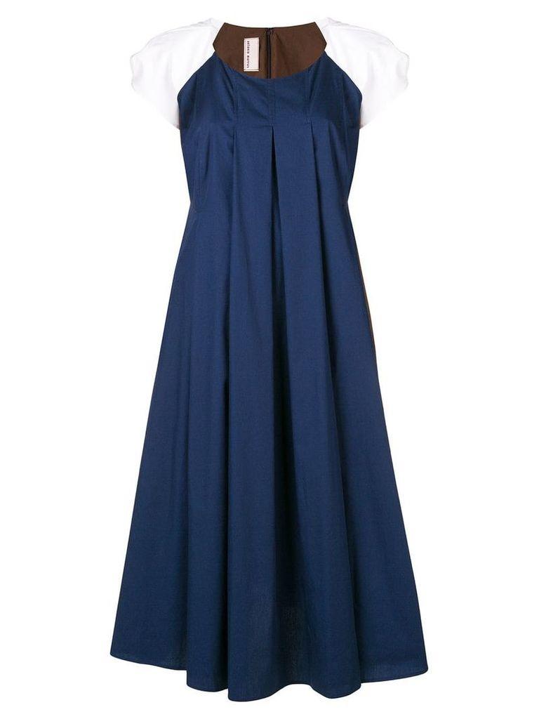Antonio Marras colour block flared dress - Blue