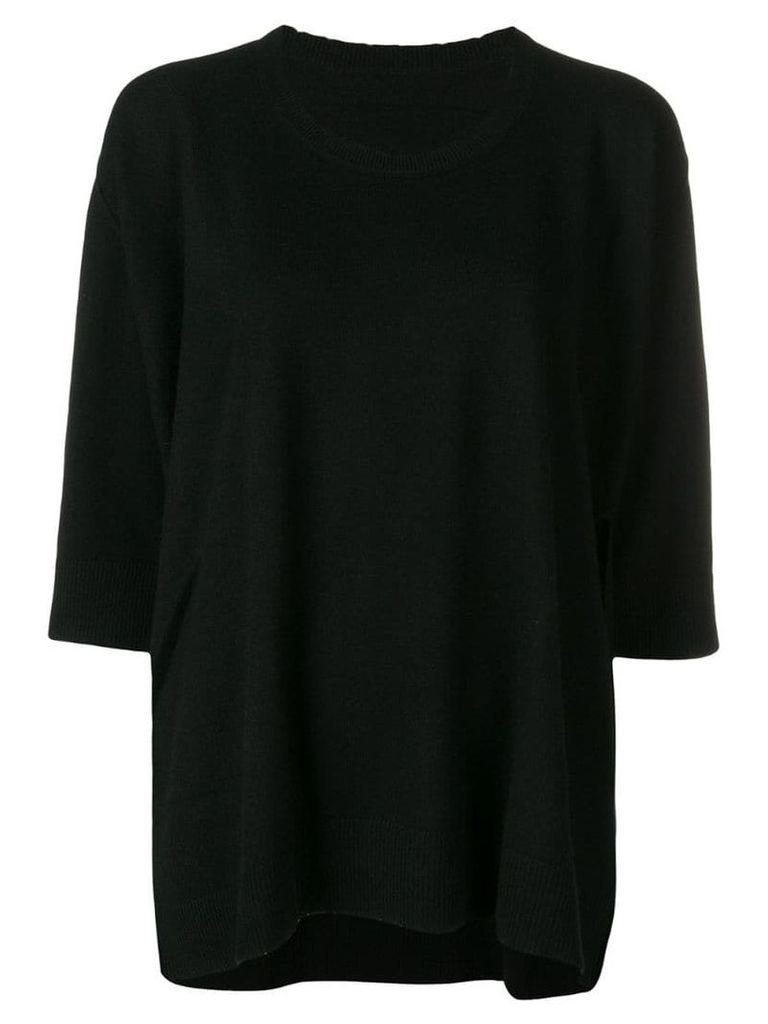 Zadig & Voltaire cropped sleeves jumper - Black