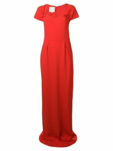 Stella McCartney sweetheart neckline gown - Red