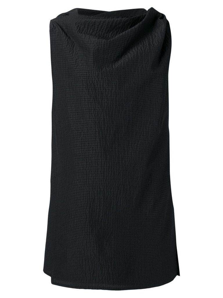 Rick Owens draped mini dress - Black