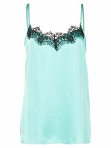 Icons lace trim slip top - Blue