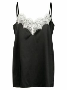 Icons lace trim slip top - Black