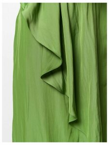 Lanvin draped ruffle shirt dress - Green
