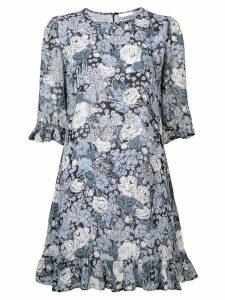Ganni floral print dress - Blue