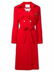 Giada Benincasa belted raincoat - Red