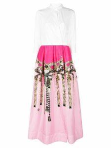 Sara Roka contrast top long dress - White