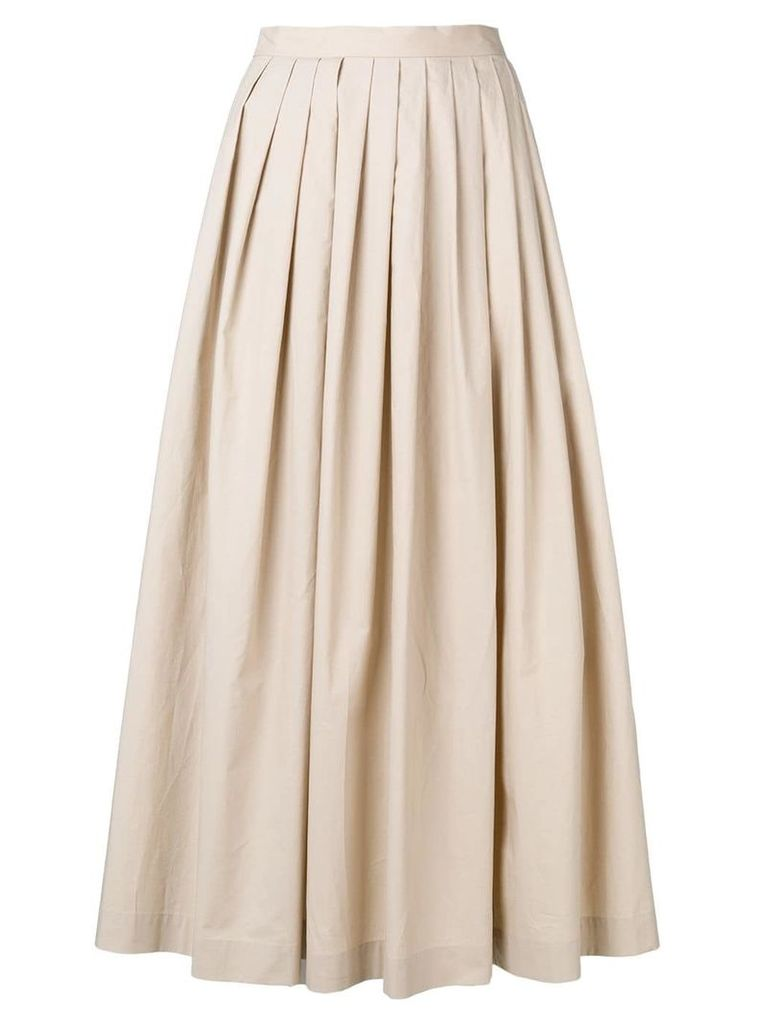 Boutique Moschino pleated midi skirt - Neutrals