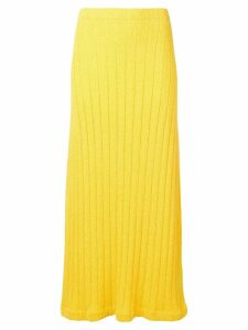 Jil Sander ribbed midi skirt - Yellow